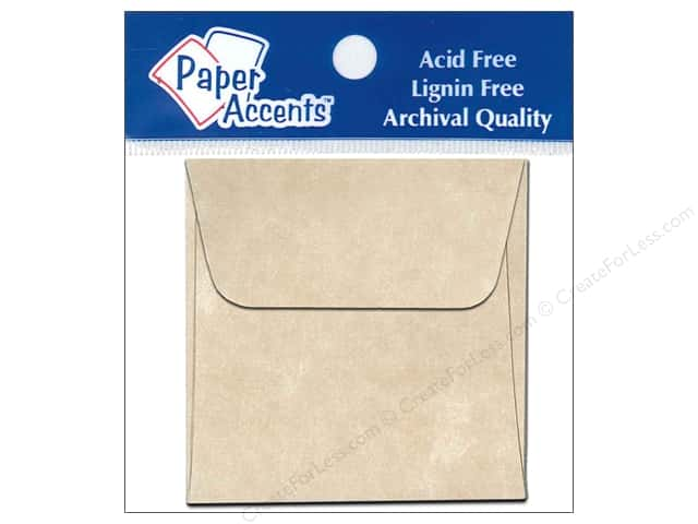 2 1/4 x 2 1/4 in. Envelopes by Paper Accents 15 pc. Aged Parchment