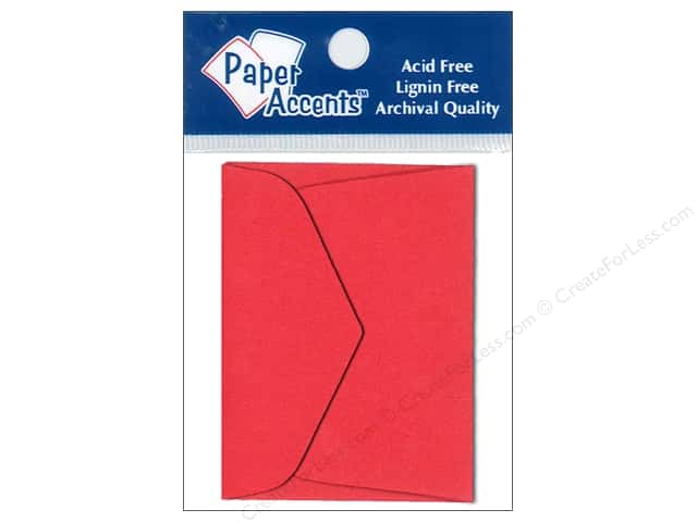 1 3/4 x 2 3/8 in. Envelopes by Paper Accents 15 pc. Red