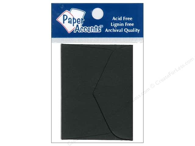 1 3/4 x 2 3/8 in. Envelopes by Paper Accents 15 pc. Black