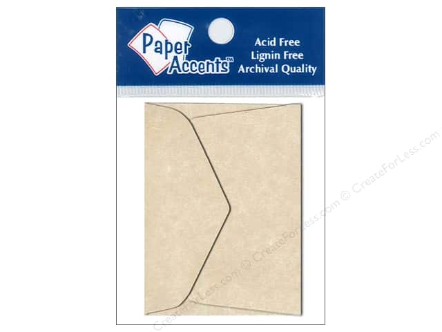 1 3/4 x 2 3/8 in. Envelopes by Paper Accents 15 pc. Aged Parchment