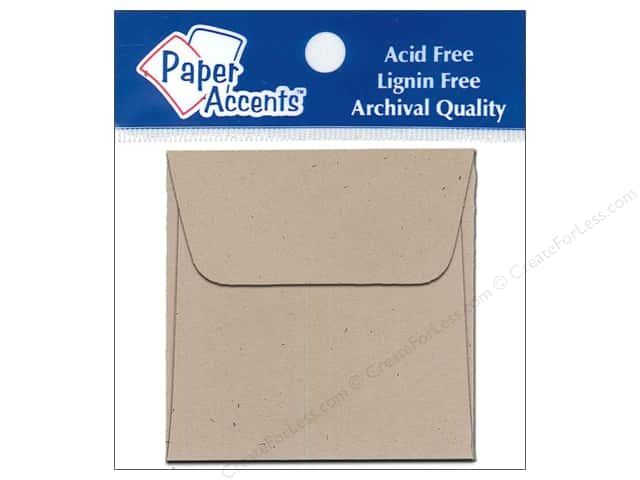 2 1/4 x 2 1/4 in. Envelopes by Paper Accents 15 pc. Kraft