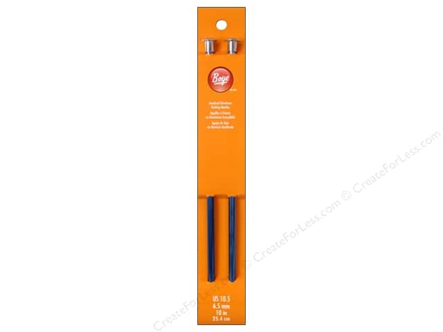 Boye Single Point Knitting Needles Aluminum 10 in. Size 10.5 (6.5 mm)