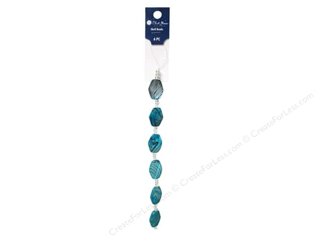Blue Moon Beads Bead Strand 7 in. Shell Oval Turquoise