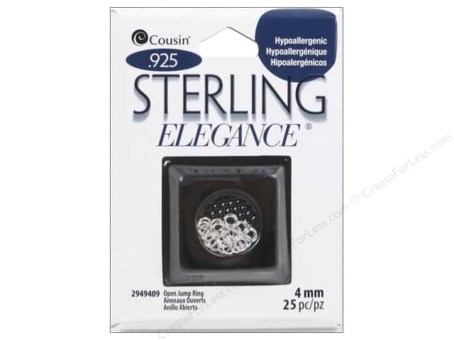 Cousin Elegance Jump Rings 4 mm 25 pc. Sterling Silver