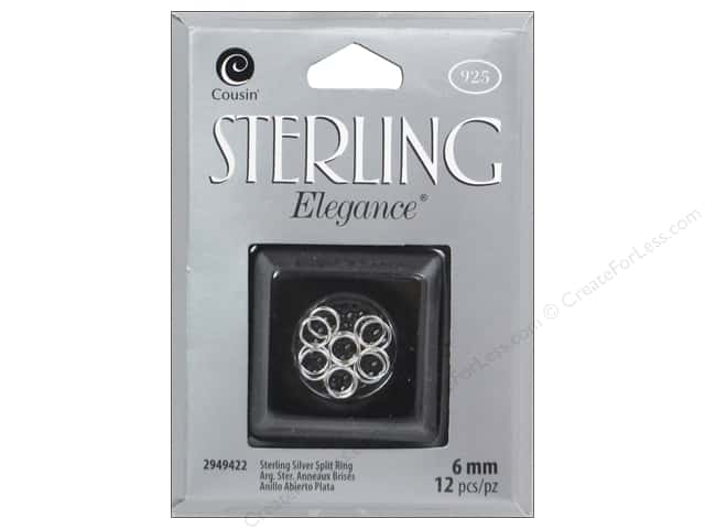 Cousin Elegance Sterling Split Ring 6mm 12pc