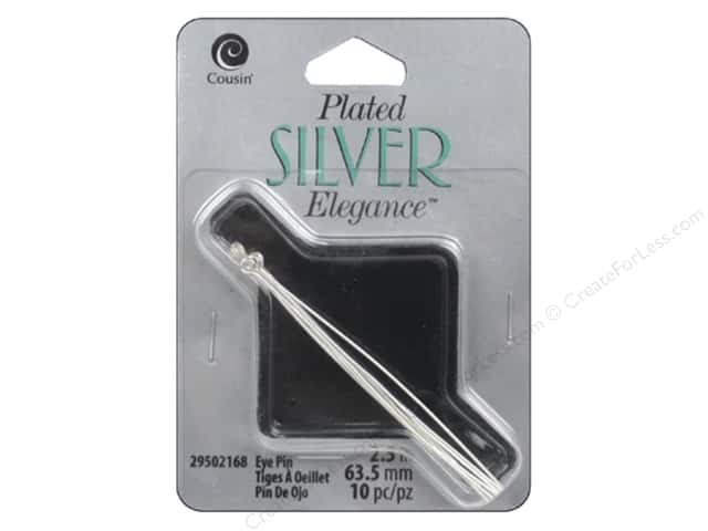 Cousin Elegance Silver Plated Eye Pin 2.5""