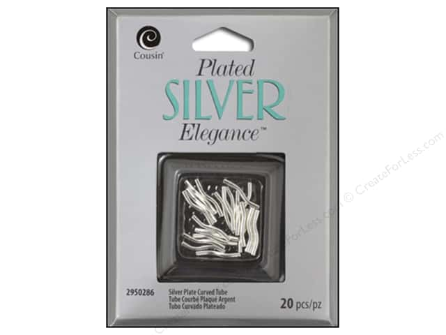 Cousin Elegance Silver Plated Curved Tube 16pc