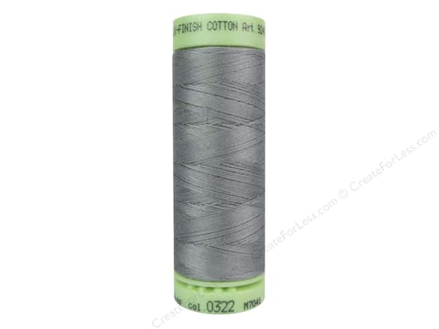 Mettler Silk Finish Cotton Thread 60 wt. 220 yd. #0322 Rain Cloud