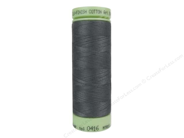 Mettler Silk Finish Cotton Thread 60 wt. 220 yd. #0416 Dark Charcoal
