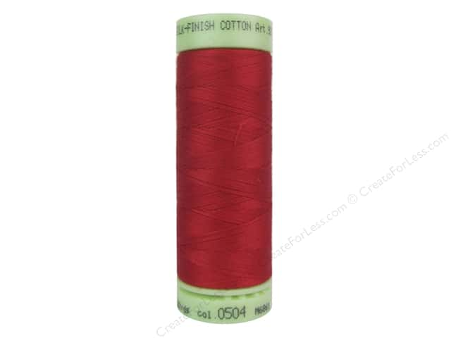 Mettler Silk Finish Cotton Thread 60 wt. 220 yd. #0504 Country Red