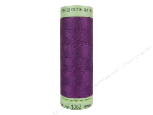 Mettler Silk Finish Cotton Thread 60 wt. 220 yd. #1062 Purple Passion