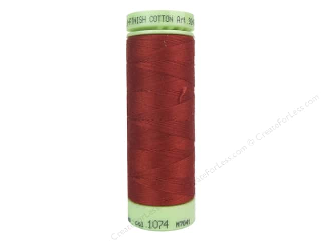 Mettler Silk Finish Cotton Thread 60 wt. 220 yd. #1074 Brick