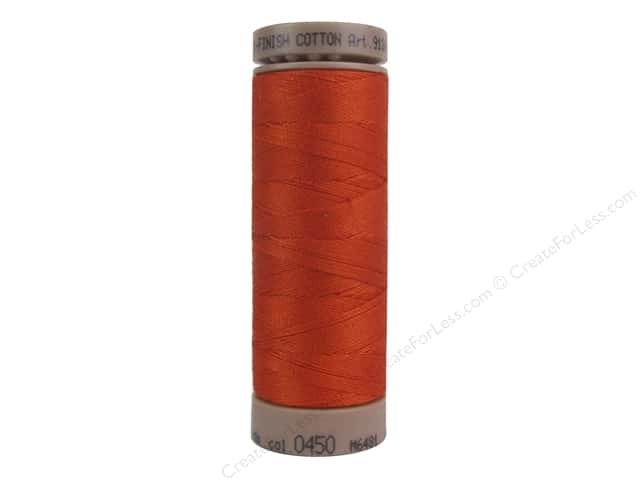 Mettler Silk Finish Cotton Thread 40 wt. 164 yd. #0450 Paprika