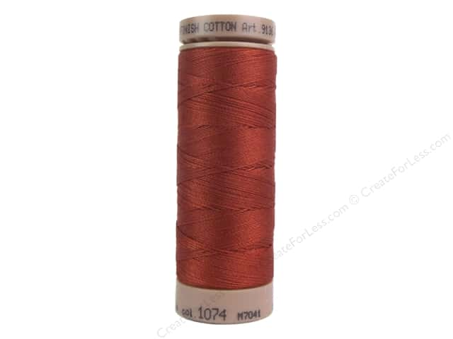 Mettler Silk Finish Cotton Thread 40 wt. 164 yd. #1074 Brick