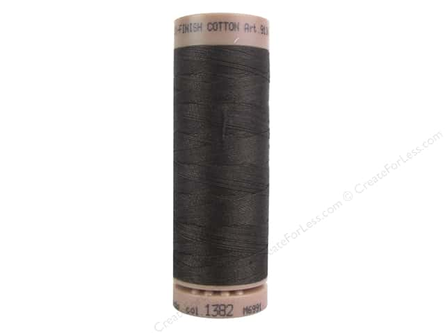 Mettler Silk Finish Cotton Thread 40 wt. 164 yd. #1382 Black Peppercorn