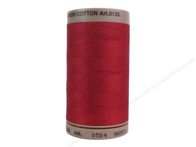 Mettler Silk Finish Cotton Thread 40 wt. 500 yd. #0504 Country Red