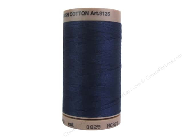 Mettler Silk Finish Cotton Thread 40 wt. 500 yd. #0825 Navy