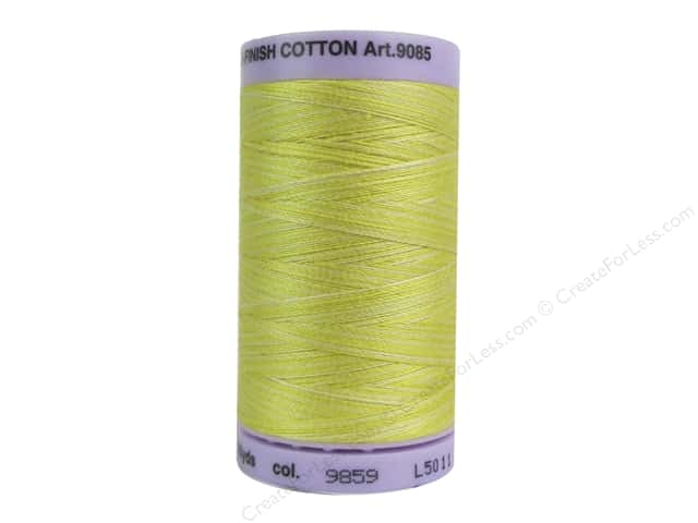 Mettler Silk Finish Cotton Thread 50 wt. 500 yd. #9859 Canary Yellow