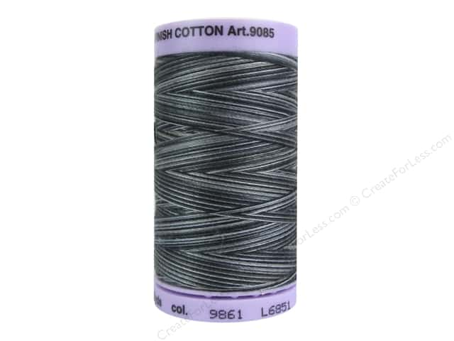Mettler Silk Finish Cotton Thread 50 wt. 500 yd. #9861 Charcoal