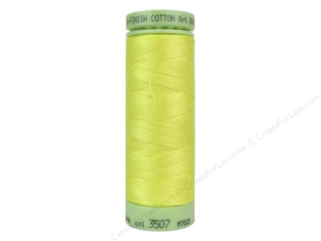 Mettler Silk Finish Cotton Thread 60 wt. 220 yd. #3507 Lemon Zest