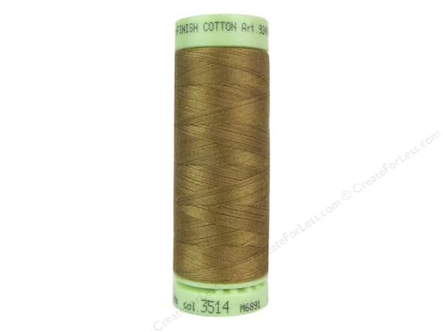 Mettler Silk Finish Cotton Thread 60 wt. 220 yd. #3514 Bronze Brown