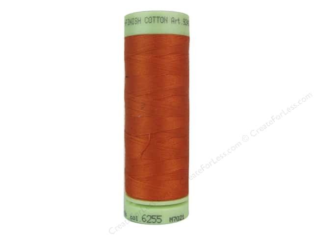 Mettler Silk Finish Cotton Thread 60 wt. 220 yd. #6255 Mandarine Orange