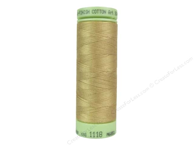 Mettler Silk Finish Cotton Thread 60 wt. 220 yd. #1118 Toast