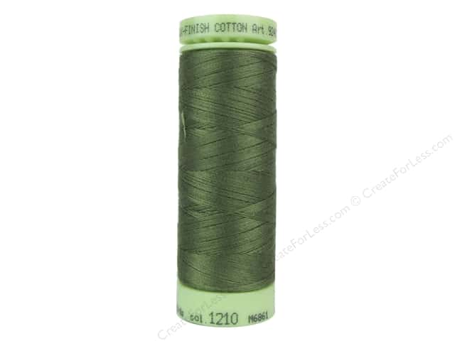 Mettler Silk Finish Cotton Thread 60 wt. 220 yd. #1210 Seagrass