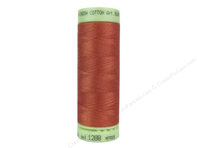Mettler Silk Finish Cotton Thread 60 wt. 220 yd. #1288 Reddish Ocher
