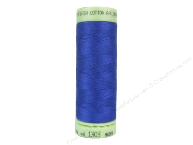Mettler Silk Finish Cotton Thread 60 wt. 220 yd. #1303 Royal Blue