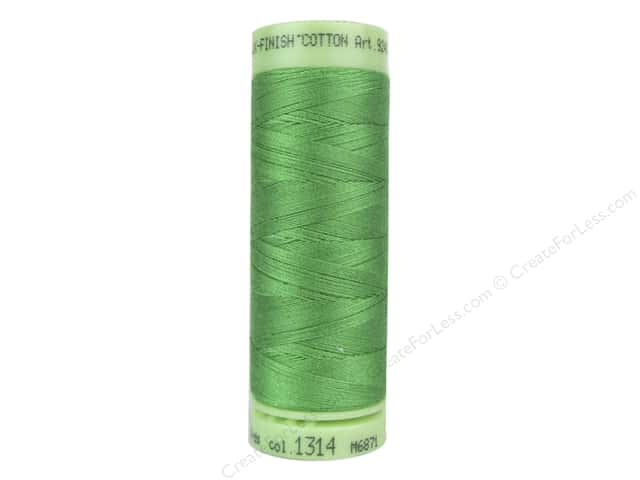 Mettler Silk Finish Cotton Thread 60 wt. 220 yd. #1314 Vibrant Green