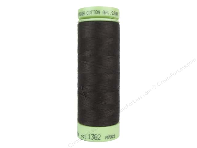 Mettler Silk Finish Cotton Thread 60 wt. 220 yd. #1382 Black Peppercorn