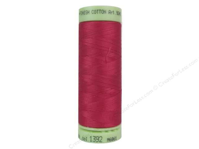 Mettler Silk Finish Cotton Thread 60 wt. 220 yd. #1392 Currant