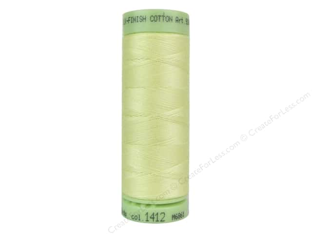 Mettler Silk Finish Cotton Thread 60 wt. 220 yd. #1412 Lemon Frost