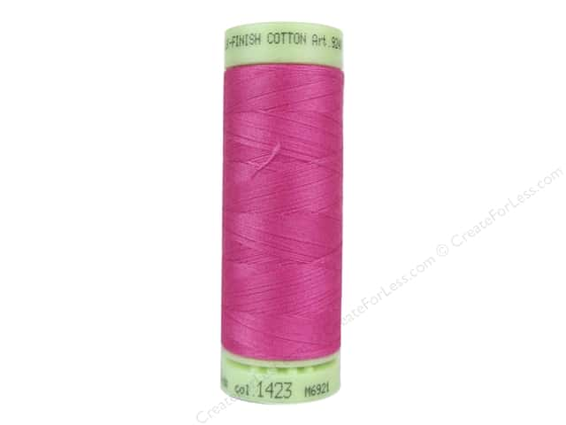Mettler Silk Finish Cotton Thread 60 wt. 220 yd. #1423 Hot Pink