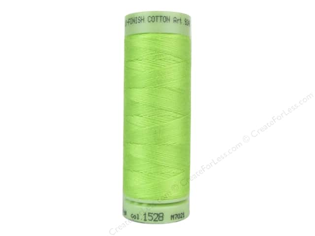 Mettler Silk Finish Cotton Thread 60 wt. 220 yd. #1528 Bright Lime Green