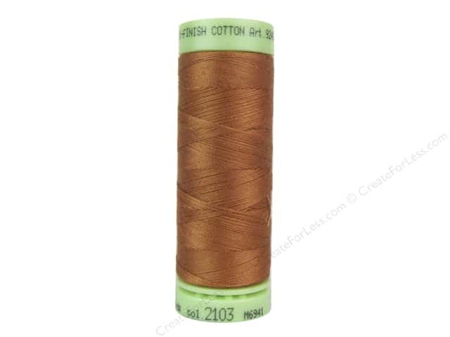 Mettler Silk Finish Cotton Thread 60 wt. 220 yd. #2103 Amber Brown