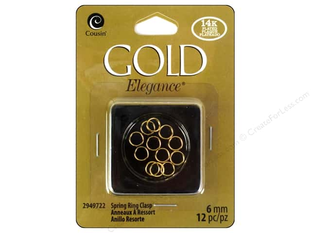 Cousin Elegance 14K Gold Plated Split Ring 12pc