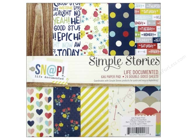 Simple Stories 6 x 6 in. Paper Pad Sn@p! Life Documented