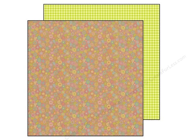 Doodlebug 12 x 12 in. Paper Hello Sunshine Frilly Flowers (25 sheets)