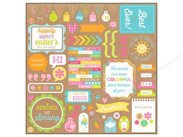 Doodlebug Sticker Hello Sunshine This & That (12 sheets)