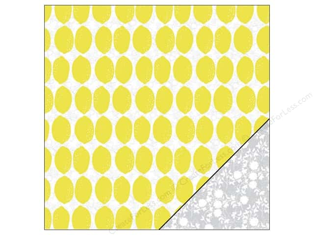 "Pink Paislee Citrus Bliss Collection Paper 12""x 12"" Lemonade (25 sheets)"