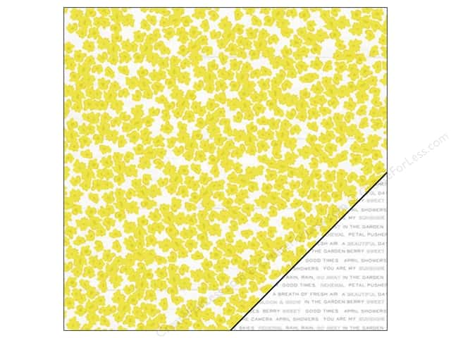 "Pink Paislee Citrus Bliss Collection Paper 12""x 12"" Seeds (25 sheets)"