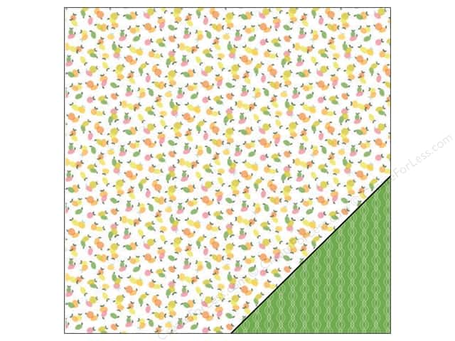 "Pink Paislee Citrus Bliss Collection Paper 12""x 12"" Fancy (25 sheets)"