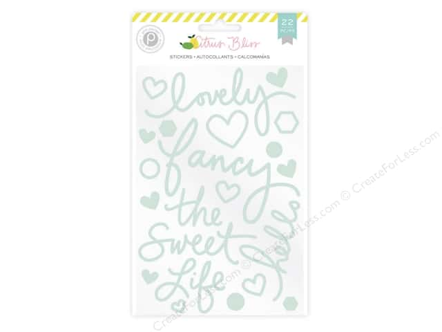 Pink Paislee Citrus Bliss Collection Sticker Foam Shapes