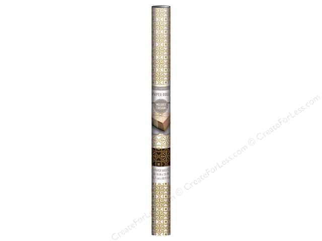 K & Company Paper Roll 18 x 24 in. Art Deco Foil Gold 2 pc.