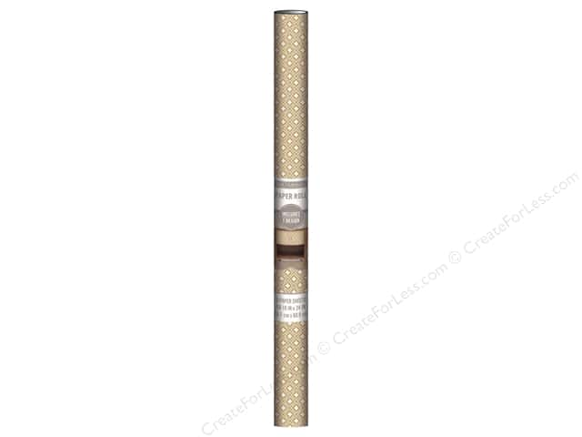 K & Company Paper Roll 18 x 24 in. Kraft Diamond 3 pc.