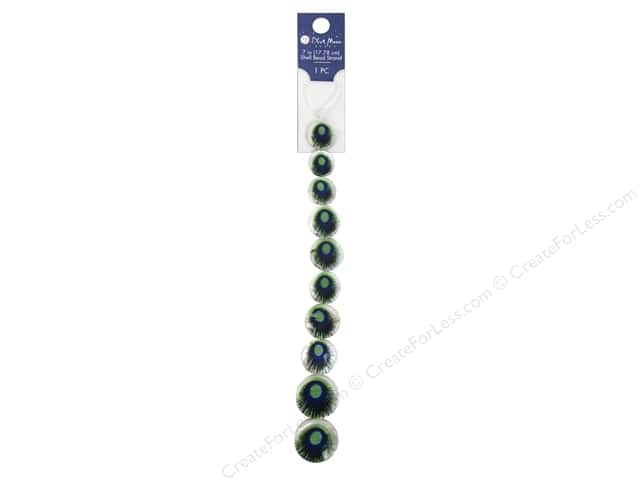 Blue Moon Beads Bead Strand 7 in. Graduated Peacock Coin