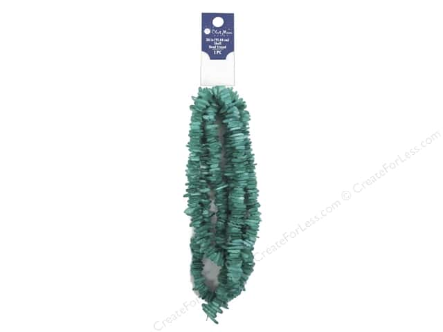 Blue Moon Beads Bead Strand 36 in. 10 mm Square Shell Blue
