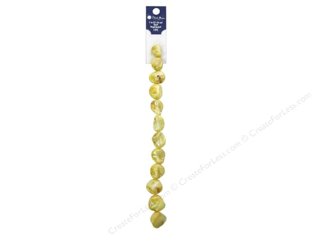 Blue Moon Beads Bead Strand 7 in. Shell #8 Ivory